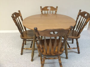 Wooden kitchen table and 4 chairs for sale