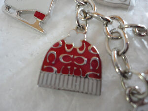 Brand new Coach keychain keyring skates mitts gloves  charms London Ontario image 5