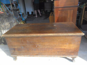 Antique cedar lined chest.