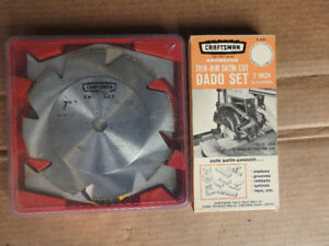 Sears Craftsman Kromedge Thin Rim Satin Cut Dado Set 7 I