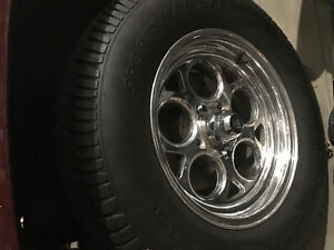 Centreline aluminum GM wheels.