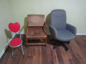 one chair to give away