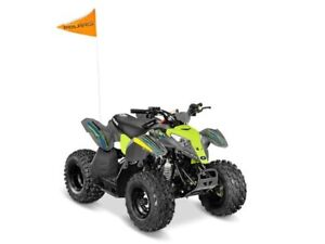 2018 Polaris OUTLAW 50 AVALANCHE GREY/LIME SQUEEZE