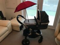 Icandy peach 3 truffle pushchair and carrycot / pram
