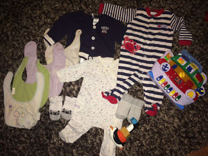 16 different items 3-6 months clothes + snickers