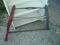 OLD WOOD HANDLED CROSS CUT SAW $20.00 CABIN COTTAGE DECOR !