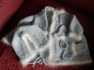 "Georgeous Handknit Dolly Outfit-NEW-will fit an 18"" Doll"