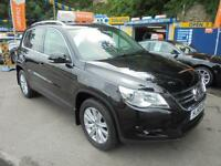 2009 59 VOLKSWAGEN TIGUAN 2.0 TDI SE 4MOTION 140 IN BLACK # FULL HISTORY #