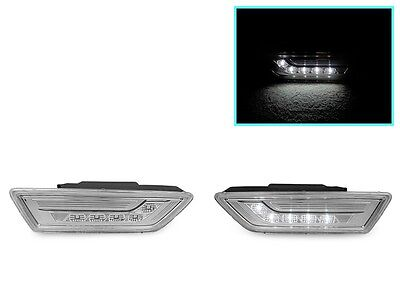 White LED Clear Side Marker Lights For 2012-14 Mercedes Benz W218 CLS 550 Class