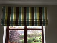 Stunning striped Roman blind and track ready too hang