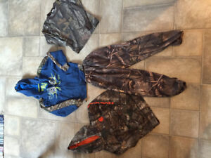 Boys camouflage lot and girl hoodie