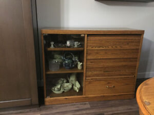Oak buffet/server; in good condition.