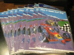 """NEW """"Speedway"""" Car Race Party/Birthday Supplies, Stickers"""