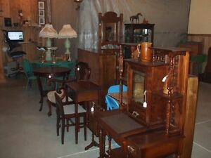 Antique jam cupboard and collectables,crafts