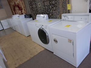 Washers and dryers all with 90 day warranty. Large selection.