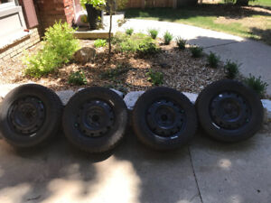 Good Year Snow Tires WITH RIMS!!
