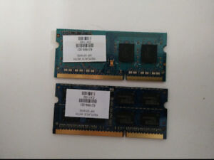 Laptop Ram 2 x 4gb sticks of DDR3 10600 Tested and working!