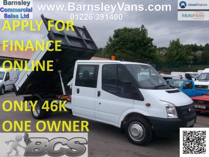 2fdd542344 2013 13 FORD TRANSIT CREW CAB TIPPER 125PS 6 SEATER