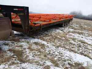 Salf unloading 12 Bale rack and trailer combo for sale