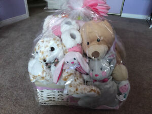 Large baby girl gift basket BNIB