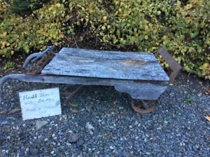 Antique Hand Cart/Scale