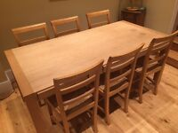 Habitat Hana oak dining table 8 seat with storage