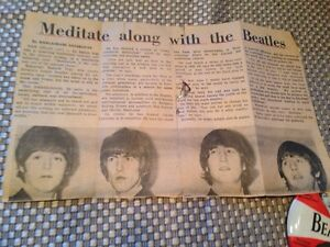 Beatles newspaper clippings Kitchener / Waterloo Kitchener Area image 5