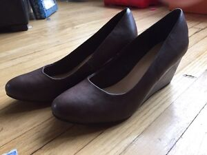 Size 7 brown wedge