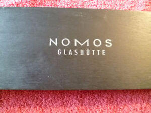 NOMOS GLASHUTTE LUDWIG AUTOMATIC BOX AND PAPERS