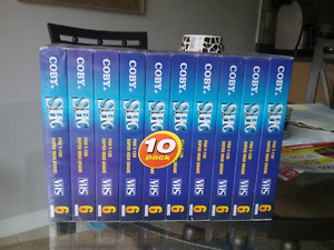 10 Brand New VHS TAPES FACTORY SEALED COBY SHG PRO T-120