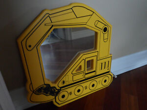 Kids Toy Truck Backhoe Bedroom Mirror Boys John Deere