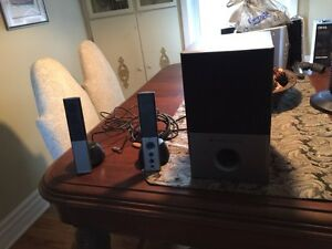 Selling a set of Altec Lansing computer speakers and subwoofer