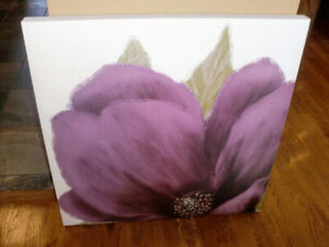 Bouclair canvas wall decor - 27 in by 27, original price 69.99
