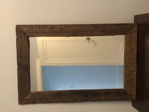 """Reclaimed CB wood mirror 23"""" x 36"""" excellent condition!"""