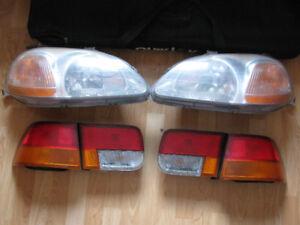 Phares avant et feux arrière Honda Civic 1998