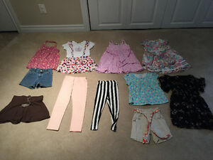All you need for a 4/5T girl's summer clothes