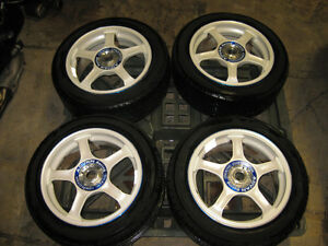 205/50/16 YOKOHAMA TIRES ADVAN RACING MAGS WHEEL 4X114.3 OFFSET