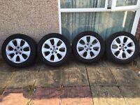 "17"" genuine Vauxhall insignia wheels 2 new tyres 2 good tyres"
