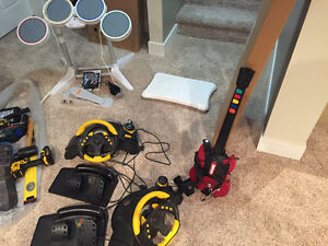 Wii drum set and microphone 40 OBO