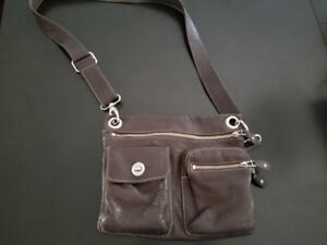 Roots Leather Crossbody Purse