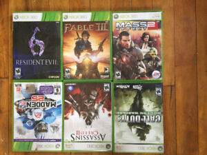 $4 a piece or $18 for six XBOX 360 games