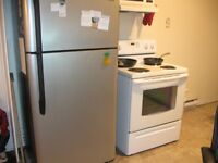 """KENMORE Fridge (stainless steel) and MOFFAT Stove (30"""") $650.00"""