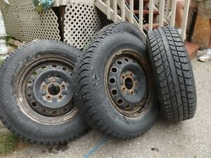 4 Aurora Winter tires and rims for sale.