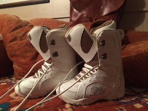 2 pair of womans snowboard boots