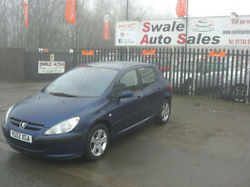 2002 PEUGEOT 307 GLX 2.0HDi FULL SERVICE HISTORY, GREAT FUEL ECONOMY