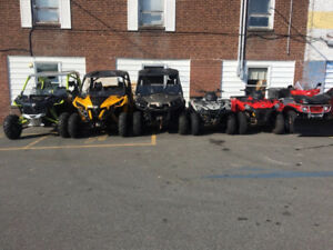 8 USED ATV & SIDE -BY-SIDES'S WITH PAYMENTS HAVE A LOOK