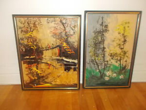 Beautiful Signed paintings by Listed Artist Morris Katz