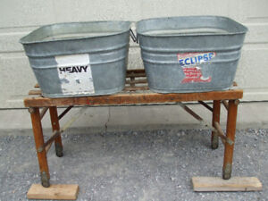TWO GALVINIZED WASH TUBS