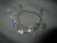 STERLING SILVER CHARM BRACLET'S