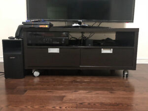Like New Wood TV Bench